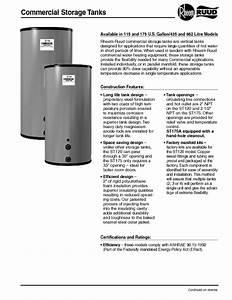 Ruud Commercial Storagetanks Manuals