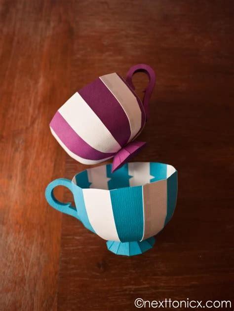 diy paper tea cups diy arts crafts pinterest