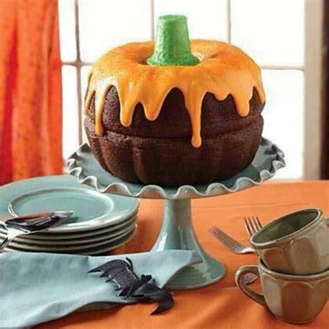 pumpkin shaped cake mini bundt cake pumpkins