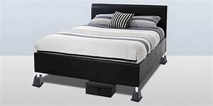 Risers for bed frames mantua inter lock metal bed base for Adjustable bed risers home depot