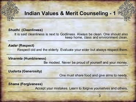 Indian Values & Merit Counselling