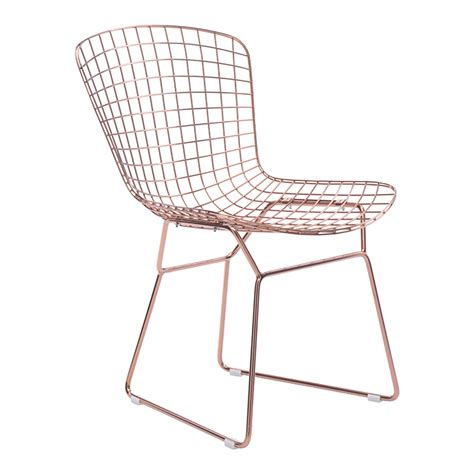 wire modern dining chair gold