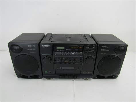 cassette cd radio player sony vintage boombox cfd 510 am fm stereo radio cd