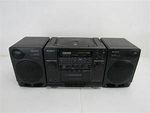 Radio Cd Kassette : sony vintage boombox cfd 510 am fm stereo radio cd ~ Jslefanu.com Haus und Dekorationen