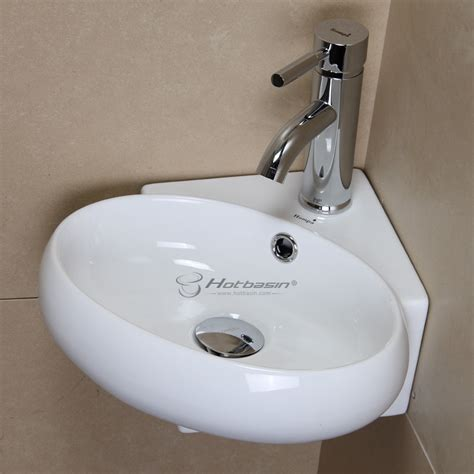 Small Wall Mounted Small Ceramic Sink For Bathroom