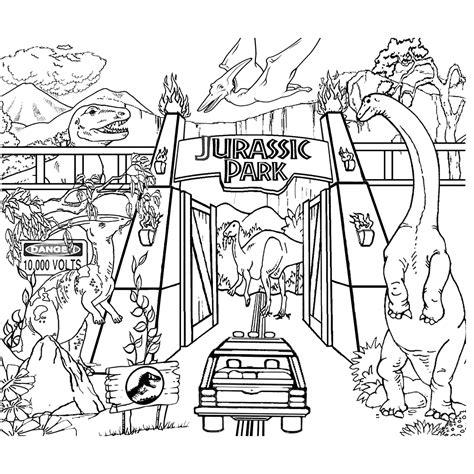 Dinosaurus Kleurplaat Jurrasic World by Leuk Voor Rondrit Door Jurassic Park