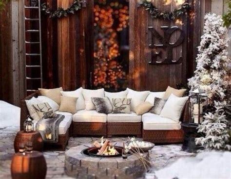 cozy  beautiful winter terrace decor ideas digsdigs