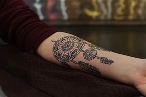 Tatouage Avant Bras Femme Mandala : exemple tatouage attrape reve femme style mandala ~ Melissatoandfro.com Idées de Décoration