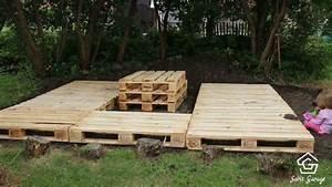 Terrasse aus paletten selber bauen palettenmobel diy anleitung for Terrasse aus paletten