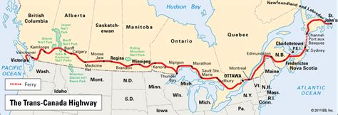 trans canada highway location kids encyclopedia