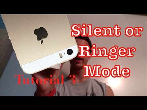 how to make iphone silent setting the silent and ringer mode on your iphone 5s