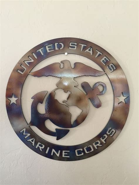 Marine Corps Decor by Us Marine Corps Usmc Metal Wall Art Decor Metals Colors