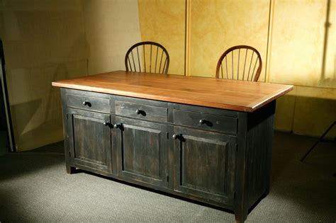 wood kitchen island crafted rustic barn wood kitchen island by