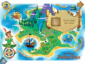 Disney Peter Pan Neverland Map