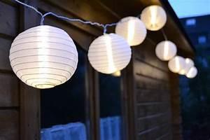 lampion led lichterkette garten aussen With französischer balkon mit solar lampions garten