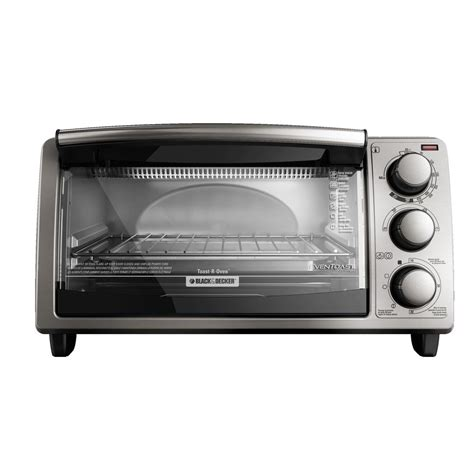 Black Toaster Oven by Black Decker 4 Slice Stainless Steel Toaster Oven