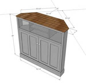 Media Cabinet Plans by Ana White Tall Corner Media Console Diy Projects