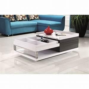 Table Basse Blanc Gris : table basse blanc gris maison design ~ Teatrodelosmanantiales.com Idées de Décoration