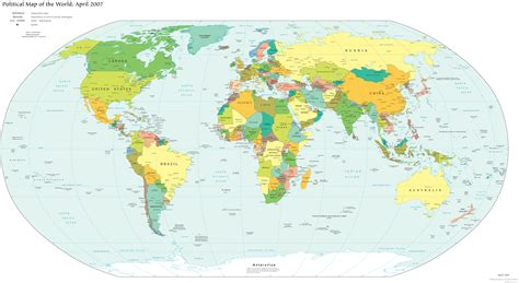 World Map 2007   World ? mappery