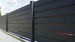 Brise Vue En Aluminium : cloture aluminium brise vue gamme contemporain ~ Edinachiropracticcenter.com Idées de Décoration