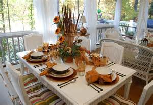 Fall Dining Porch Celebrating Russet Shade Autumn Decorating Front Porch