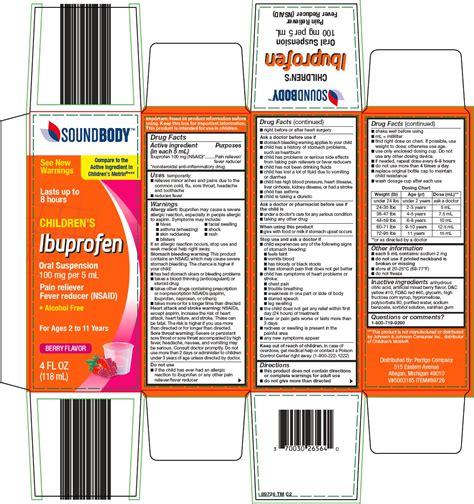 Dailymed Sound Body Childrens Ibuprofen Ibuprofen