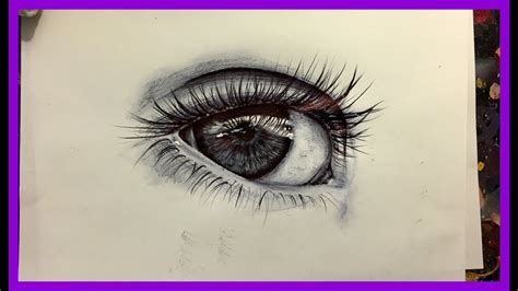 draw  realistic eye ballpoint  youtube