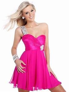 whatgoesgoodwith.com hot pink formal dress (07) # ...