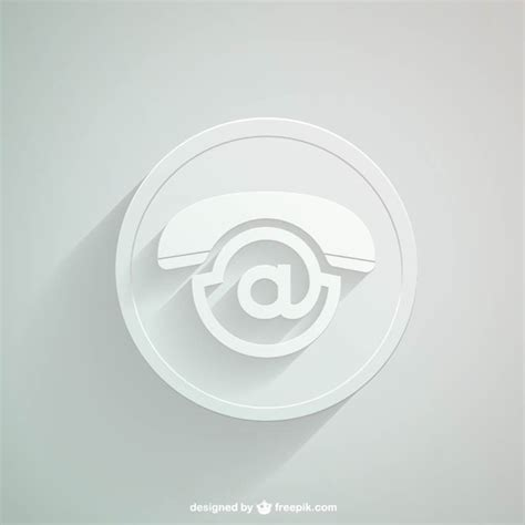 White Contact Icon Vector Free Download