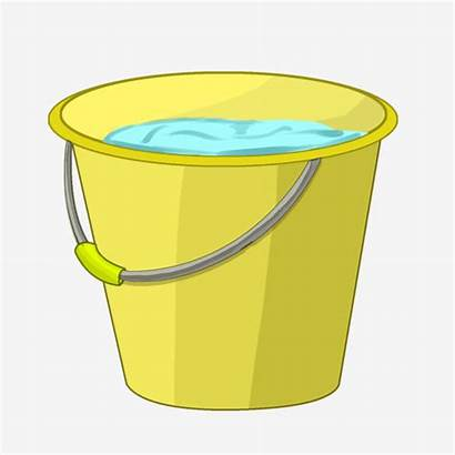 Bucket Water Yellow Clipart Psd Transparent Cleaning