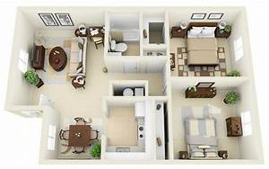 20, Awesome, 3d, Apartment, Plans, With, Two, Bedrooms