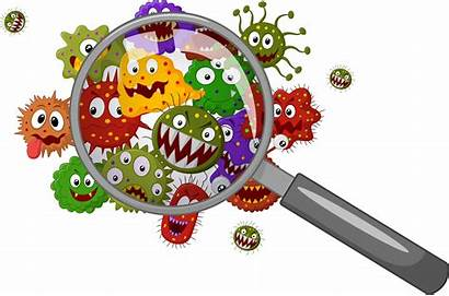 Contamination Cross Cleaning Dangers Office Cartoon Bacteria