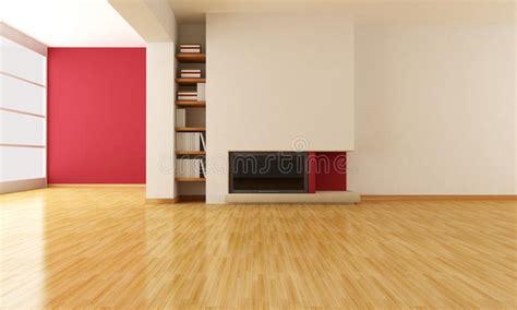 empty living room  minimalist fireplace stock