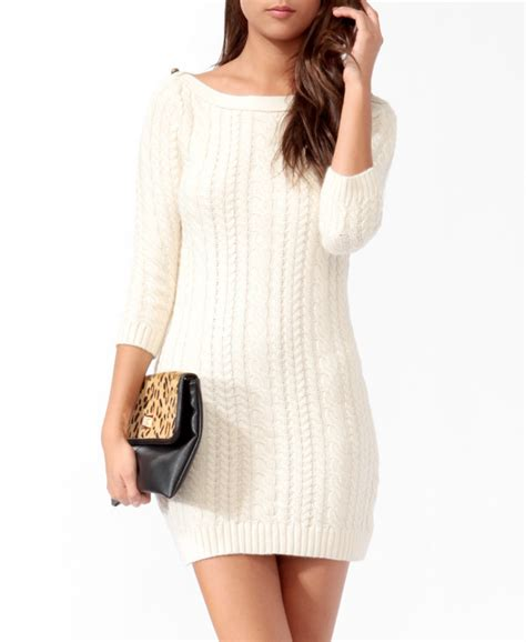 forever 21 sweater dress essential cable knit sweater dress from forever 21 dresses