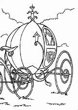 Cinderella Coloring Carriage Pumpkin Pages Disney Coach Cartoons Castles Comment Leave sketch template