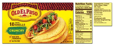 Whole Wheat Taco Boats Nutrition by El Paso Product List