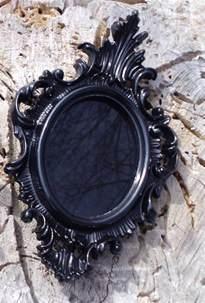 Black Mirror Scrying by Small Black Scrying Mirror Black Mirror Ornate Vintage