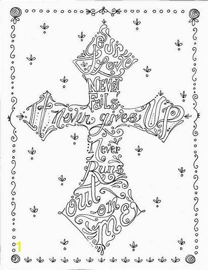Coloring Christian Pages Adult Cross Religious Colossians