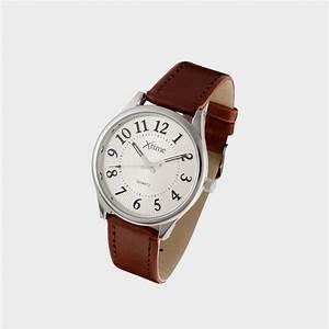 Montre Femme Gros Cadran : montre homme bracelet cuir brun et gros chiffres cflou ~ Nature-et-papiers.com Idées de Décoration