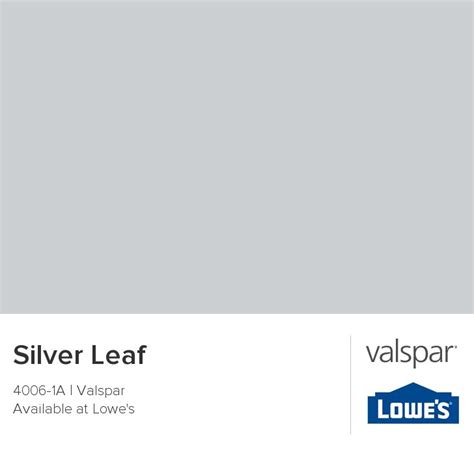 silver leaf from valspar for the home
