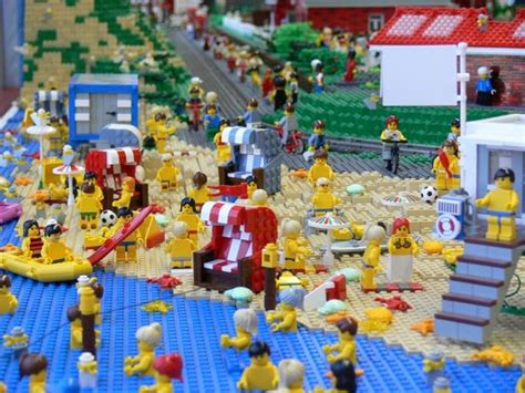 A Lego Beach. Check Out The Starfish On The Beach And In