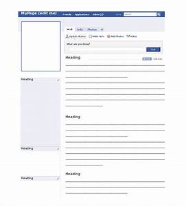 Blank Facebook Template – 11+ Free Word, PPT & PSD ...