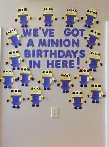 Minion birthday wall minions classroom