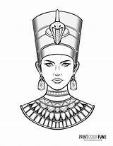 Nefertiti sketch template