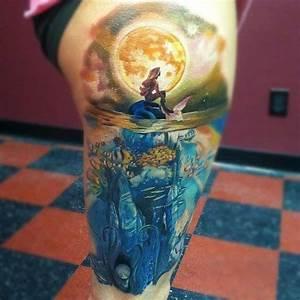 Ocean Tattoos Express Love with Blue Ocean