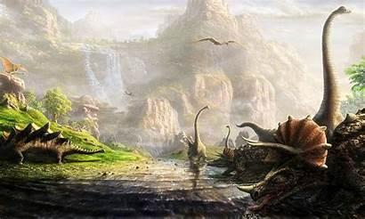 Prehistoric Background Roar Dinosaurs