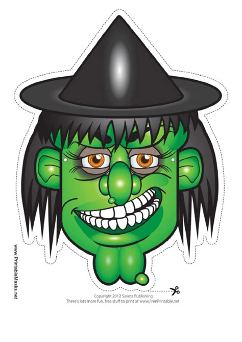 witch hat mask template printable