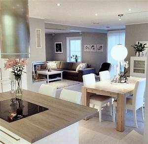 les 25 meilleures idees concernant decoration interieure With attractive plan de maison moderne 10 deco salon et cuisine ouverte