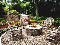 inspiring patio design ideas with fire pits Patio Design Inspiring Ideas Yard Fire Pit Rustic Style ...