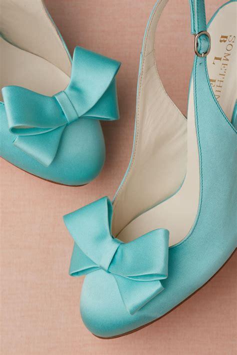 turquoise blue wedding shoes  bhldn onewedcom